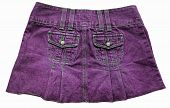 foto of mini-skirt  - Violet denim mini skirts with tow pockets