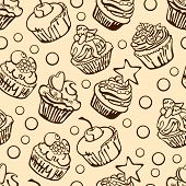 image of cupcakes  - Collection of six cupcakes - JPG