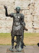 pic of emperor  - Ancient Roman statue of Emperor Trajan in London UK - JPG