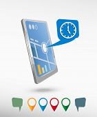 picture of dial pad  - Watch and perspective smartphone vector realistic - JPG