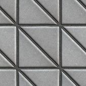 picture of paving  - Gray Paving Slabs in the Form Square of a Triangle - JPG