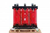 stock photo of transformer  - Dry type cast resin transformer for indoor installation - JPG