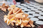 picture of crepes  - close up of thai crispy pancake  - JPG