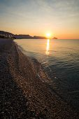 pic of costa blanca  - Sunrise on the calm waters of Altea bay Costa Blanca Spain - JPG