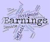 pic of revenue  - Earnings Word Representing Salary Revenues And Revenue - JPG