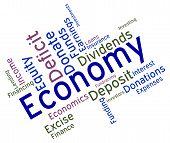 stock photo of economizer  - Economy Word Indicating Micro Economics And Economize - JPG