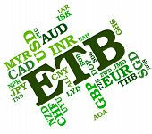 stock photo of ethiopia  - Etb Currency Means Foreign Exchange And Ethiopia - JPG