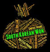 pic of korean  - South Korean Won Representing Foreign Currency And Krw - JPG