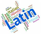 stock photo of dialect  - Latin Language Meaning Words Speech And Communication - JPG