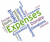 stock photo of budget  - Expenses Word Represents Outgoing Outlays And Budgeting - JPG