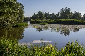 image of bavaria  - The river Naab in Bavaria on a sunny summer day - JPG
