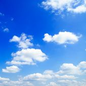pic of cumulus-clouds  - sky covered by clouds - JPG