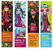 Fashion Christmas girls banners