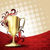 image of trophy  - golden vector trophy design - JPG