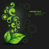 vector green leaf background design illustration