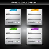 Постер, плакат: элемент стиля веб Логин форма