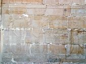 Hieroglyphs In A Small Egyptian Temple, Oasis Of Bahareyya, Lybian Desert, Egypt poster