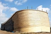 image of noah  - Johan Huibers from the Netherlands start building the ark of Noah in exact sizes.