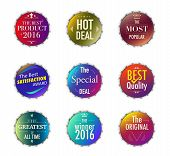 Set Of Promotion And Maketting Label. Badge Design. Vector Stock. poster