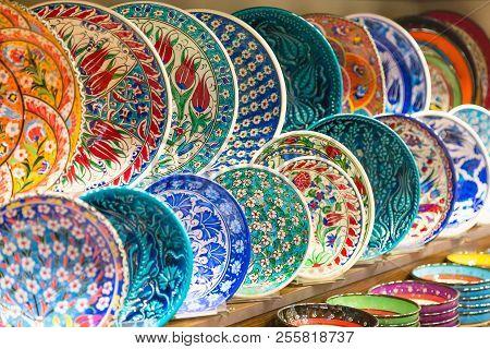 Classical Traditional Turkish Ceramics Colorful