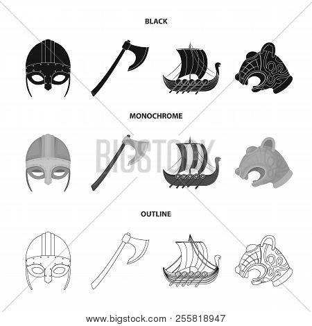Viking Helmet Battle Ax Rook