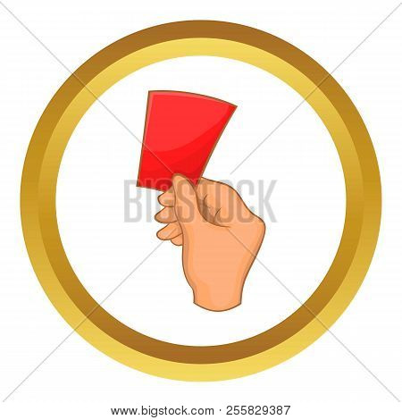 Red Card Football Icon In