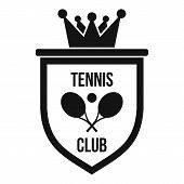 Coat Of Arms Of Tennis Club Icon. Simple Illustration Of Coat Of Arms Of Tennis Club Icon For Web poster