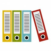 Folders Icon. Flat Illustration Of Folders Icon For Web poster