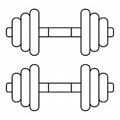 Dumbbell Weights Icon. Outline Illustration Of Dumbbell Weights Icon For Web poster