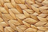 Wicker Basket Texture, Handmade Natural Wicker Work Background. poster
