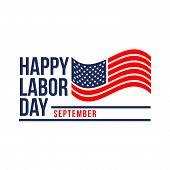 Labor Day Lettering Usa Background Vector Illustration For Strong Men. Labor Day Celebration Banner  poster