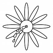 April Fools Day Flower Icon. Outline Illustration Of April Fools Day Flower Icon For Web Design poster