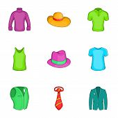 Material Icons Set. Cartoon Illustration Of 9 Material Icons For Web poster