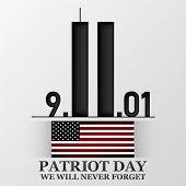 11 September. Patriot Day. Design For Postcard, Flyer, Poster, Banner. Vector Illustration. poster