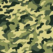 stock photo of camouflage  - Seamless camouflage pattern  - JPG