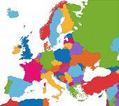 Постер, плакат: Красочные карта Европы
