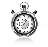 Vector illustration of stopwatch - Chronometer watch
