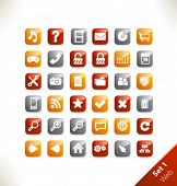 Vector beautiful icon set. Part 1 - Web