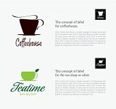 Label set for restaurant, cafe, bar, coffeehouse