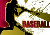 Baseball batter poster. Vector illustration.