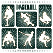 picture of little-league  - Baseball players silhouettes - JPG