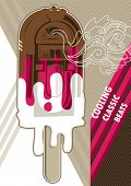 foto of jukebox  - Jukebox ice cream designed artistic banner - JPG