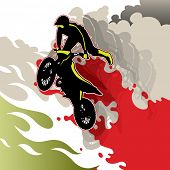 picture of blood drive  - Artistic conceptual extreme motorcycling background - JPG