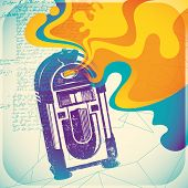 picture of jukebox  - Colorful jukebox illustration - JPG