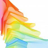 Vivid Background, Vibrant Gradient Wallpaper. Rainbow Joyful Template Banner For Leaflet. Design Con poster