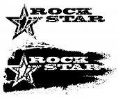 image of rock star  - Abstract grunge rock star design with star - JPG