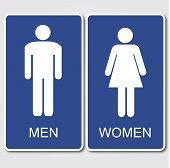 stock photo of female toilet  - Restroom Signs Illustration - JPG