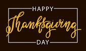 Happy Thanksgiving Day Typography Vector Design  On A Black Background Design Template Celebration.  poster