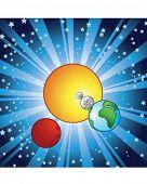 Постер, плакат: Иллюстрация солнечной системы