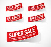 Super sale red stickers